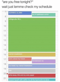 check my schedule