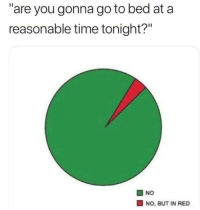 "Time, Red, and You: are you gonna go to bed at a  reasonable time tonight?""  O NO  NO, BUT IN RED"