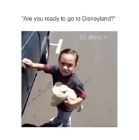 """Dad, Disneyland, and You: """"Are you ready to go to Disneyland?""""  IG: @bitc.h Me as a dad"""