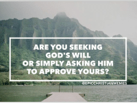 "God, Lean, and Life: ARE YOU SEEKING  GOD'S WILL  OR SIMPLY ASKING HIM  TO APPROVE YOURS?  @EPICCHRISTIANMEMES EpiclyMonday ... the other day as I got quiet before the Lord I realized my prayers lately have consisted of ""Lord give me wisdom and give me strength"". I ask for these things, don't stop to listen, and just move on with my day. ✌️😩✌️😩✌️😩✌️😩✌️😩✌️😩✌️ I felt God ask me the question, ""when it came to my ministry and life am I about my work or about His work"". Many times I'm about my work... asking God to bless what I have already decided to do. 🤐🤐🤐🤐🤐🤐🤐🤐🤐🤐🤐🤐 Are you truly taking time to pause and ask God for His will or are you asking Him to simply approve yours? ""Trust in the Lord with all your heart and lean not on your own understanding; in ALL your ways submit to him, and he will make your paths straight."" Prov 3:5-6 (Original photo from @jessbaughman)"