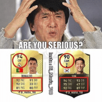 ARE YOU SERIOUS?  94  LW  90  CAM  ONALD  92 PAC 91 DRI  92 SHO 33 DEF  81 PAS 80 PHY  SON  94 PAC 93 DRI  95 SHO 47 DEF  92 PAS 87 PHY  DI MARIA /8  DIMARIA708  -  - Wtf EA 😂😂 ... 🔹FREE FOOTBALL EMOJI'S --> LINK IN OUR BIO!!!
