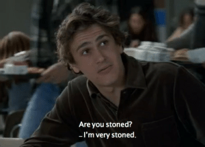 You, Stoned, and Are You: Are you stoned?  -I'm very stoned.