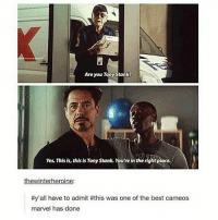 a truly epic scene stanlee robertdowneyjr doncheadle warmachine jamesrhodey rhodes rdj tonystark ironman avengers mcu marvel cacw: Are you Tony Stank?  Yos Thisis, this is Tonystank. Yourre in theright place.  hewinter  roin  #y'all have to admit #this was one of the best cameos  marvel has done a truly epic scene stanlee robertdowneyjr doncheadle warmachine jamesrhodey rhodes rdj tonystark ironman avengers mcu marvel cacw