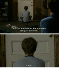 Scott Pilgrim vs. the World: are you waiting for the package  you just ordered?  Maybe Scott Pilgrim vs. the World