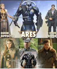 By the Gods....it's ARES!! The @wonderwomanfilm villain arrives in action figure form! * As per the rumors, the God of War will be played by DAVID THEWLIS (pictured here in a previous film) * Standing with the Lord of Chaos are action figures of Connie Nielsen's Queen Hippolyta and Chris Pine's Steve Trevor!: ARES  QUEEN  HIPPOLYTA  DERMA  WONDE  TOYARK  STEVE  TREVOR By the Gods....it's ARES!! The @wonderwomanfilm villain arrives in action figure form! * As per the rumors, the God of War will be played by DAVID THEWLIS (pictured here in a previous film) * Standing with the Lord of Chaos are action figures of Connie Nielsen's Queen Hippolyta and Chris Pine's Steve Trevor!