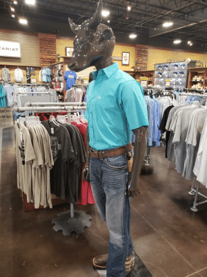 """Cowboy, Western, and Ama: ARIAT  TANT  CLEAR ANCE  25-33% OFF  CLEAR  CLEARANCE  T  25-93% OFF  SAY  AMA  33/35  E Thanks, I hate western store """"cowboy""""."""