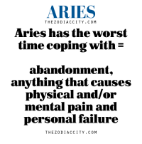 The Worst, Work, and Aries: ARIES  THE Z 0 DI ACC ITY. C 0 M  Aries has the worst  time coping with  E  abandonment,  anything that causes  physical and/or  mental pain and  personal failure  THE Z 0 DI ACC ITY. C 0 M May 25, 2017. You may have success in sales and commercial work today. If that is what you do, expect increased amount of work and higher profit. The day is very  ....FOR FULL HOROSCOPE VISIT: http://horoscope-daily-free.net/aries