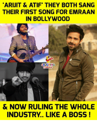 🎵#ArijitSingh #AtifAslam #EmraanHashmi 🎶: ARIJIT & ATIF THEY BOTH SANG  THEIR FIRST SONG FOR EMRAAN  IN BOLLYWOOD  LAUGHING  & NOW RULING THE WHOLE  INDUSTRY.. LIKE A BOSS! 🎵#ArijitSingh #AtifAslam #EmraanHashmi 🎶