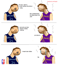 so big, so skill, is the gosals: ARILLIES  33  RILLIES  ARILLIES  33  so pow, i ges is  anothr gosal showdown  today  don undestimane  me lakes team dis  year  pow pls you bes  player is blake  mamba  yis kobe is-  i meant stev blake  fak  acebook.com/nbapls  LAKES  LAKES  LAKES so big, so skill, is the gosals