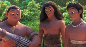 "Cute, Family, and Tumblr: ariminiria:  libertarirynn:  saccharinescorpion: appreciation post for these random fishermen in Moana cute perfectly convey the EXACT emotion you feel when two people you know well but don't know ""well"" get into a family argument in front of you   Moana was originally going to have several brothers before they retooled her story, so I wonder if these guys were based on those assets/models.  Whoa, really? What was the original storyline?  Originally she was going to have nine brothers who sail away from Montinui and get lost or something so she has to go rescue them. Here's some concept art:Later on in production they decided to do away with the brothers because they wanted to focus on Moana and didn't want her story centered around males."