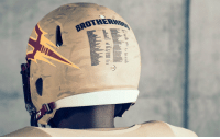 Arizona State will honor Pat Tillman Nov. 4 vs. Colorado. This is the back of the camouflage helmet that lists all ASU players and coaches who served in the U.S. Military. https://t.co/c8zf6Ltdna: Arizona State will honor Pat Tillman Nov. 4 vs. Colorado. This is the back of the camouflage helmet that lists all ASU players and coaches who served in the U.S. Military. https://t.co/c8zf6Ltdna