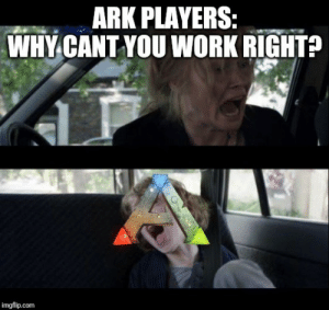 Ark tries to work though.: ARK PLAYERS:  WHY CANT YOU WORK RIGHT?  imgflip.com Ark tries to work though.