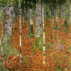 arles-bedroom: Farmhouse with Birch Trees (1903) - Gustav Klimt : arles-bedroom: Farmhouse with Birch Trees (1903) - Gustav Klimt