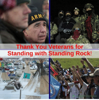 Image from Robin Hood Tax USA: ARM  Thank You Veterans for  Standing with Standing Rock! Image from Robin Hood Tax USA