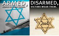 "Tumblr, Blog, and Holocaust: ARMED DISARMED,  VICTIMS WEAR THEM <p><a class=""tumblr_blog"" href=""http://tumblr.donttreadonvirginia.org/post/47420712386/more-important-than-ever-to-remember-on-yom"">donttreadonvirginia</a>:</p> <blockquote> <p>More important than ever to remember on Yom HaShoah (Holocaust Remembrance Day).</p> </blockquote>"
