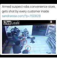 All Lives Matter, America, and Feminism: Armed suspect robs convenience store,  gets shot by every customer inside  sandrarose.com/?p 150828  Live Leak  2017.05.31 215741 But guns kill people reeeeeeeeeeeeeee - @guns_are_fun_💐 - Follow my backup - 🇺🇸 @alice_are_fun 🇺🇸 ✨Tags your friends ✨ - - ❤️🇺🇸🙏🏻 politicians racist gop conservative republican liberal democrat libertarian Trump christian feminism atheism Sanders Clinton America patriot muslim bible religion quran lgbt government BLM abortion traditional capitalism makeamericagreatagain maga president alllivesmatter