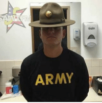"""Memes, Zero, and Army: ARMY  6ajo Drill sergeants all over the country are suddenly shouting, """"I feel a disturbance in the force."""" This windowlicker bout to die... - this recruit that broke into the DS office to retrieve his phone and the hat, snap a picture, and send it to his friends .. Mr Private Zero Fucks must be his name 😏 - pc US Army WTF - - zerofucksgiven zerofucksninja zerofucks"""
