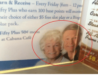 <p>Huele a photoshop&hellip;</p>: arn&  Receive  - Every Friday (6am - 12 pm  fty Plus who earn 100 base points will recerin  eir choice of either $5 free slot play or a Bing  lue pack.  Fifty Plus 50 menu  SA  at Cabana Café  4y <p>Huele a photoshop&hellip;</p>