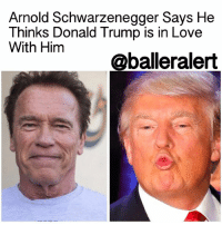 """Memes, 🤖, and Firestorm: Arnold Schwarzenegger Says He  Thinks Donald Trump is in Love  With Him  oballeralert Arnold Schwarzenegger Says He Thinks Donald Trump is in Love With Him - blogged by: @msjennyb ⠀⠀⠀⠀⠀⠀⠀⠀⠀ ⠀⠀⠀⠀⠀⠀⠀⠀⠀ For weeks, DonaldTrump and his Celebrity Apprentice successor, ArnoldSchwarzenegger, have been on the outs, trading insults regarding the rate of their success, or lack thereof, in their respective fields of work. ⠀⠀⠀⠀⠀⠀⠀⠀⠀ ⠀⠀⠀⠀⠀⠀⠀⠀⠀ It all started with the former reality star turned Head of State using his platform at the National Prayer Breakfast to criticize Schwarzenegger for the show's drop in viewers. In turn, Schwarzenegger fired back with criticisms of his own, about Trump's struggles as president. However, the firestorm between the two didn't end there. Just last week, Schwarzenegger announced his resignation as host of The CelebrityApprentice, to which Trump fired back without evidence, that the former governor of California was not leaving on his own free will, but he had been fired. ⠀⠀⠀⠀⠀⠀⠀⠀⠀ ⠀⠀⠀⠀⠀⠀⠀⠀⠀ """"Arnold Schwarzenegger isn't voluntarily leaving the Apprentice, he was fired by his bad (pathetic) ratings, not by me. Sad end to a great show,"""" Trump said of the show, in which he still retains executive producer credit. ⠀⠀⠀⠀⠀⠀⠀⠀⠀ ⠀⠀⠀⠀⠀⠀⠀⠀⠀ Now, after weeks of back and forth between the two, Schwarzenegger has revealed the reasoning behind Trump's frequent attacks. Apparently, there's a bromance brewing. ⠀⠀⠀⠀⠀⠀⠀⠀⠀ ⠀⠀⠀⠀⠀⠀⠀⠀⠀ On Tuesday, the actor spoke with Michael Smerconish of SirusXM's """"The Michael Smerconish Program"""" to discuss American politics and Trump's alleged obsession with criticizing him online. ⠀⠀⠀⠀⠀⠀⠀⠀⠀ ⠀⠀⠀⠀⠀⠀⠀⠀⠀ """"Why does he keep talking about you through his Twitter feed?"""" Smerconish asked, to which the former governor of California responded, """"I think he's in love with me."""" ⠀⠀⠀⠀⠀⠀⠀⠀⠀ ⠀⠀⠀⠀⠀⠀⠀⠀⠀ The two joked about Schwarzenegger's new theory, adding that there has been a """"long relationship"""" between the actor and the pr"""