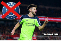 Liverpool midfielder Adam Lallana, 28, who has been heavily linked with Paris St-Germain with a deal worth around £30M has agreed a new four-year deal worth £120,000 a week with Liverpool.: ARRI  AINT G  LIC  tandard  artered S  TRANSFeR TALK Liverpool midfielder Adam Lallana, 28, who has been heavily linked with Paris St-Germain with a deal worth around £30M has agreed a new four-year deal worth £120,000 a week with Liverpool.