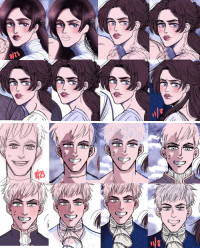 Target, Tumblr, and Blog: arschbiene:  if anyone wants to know why it takes me ages to finish a drawing, I present to you a THREE MONTH collection my compulsive redrawing