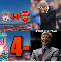 Being Alone, Arsenal, and Memes: Arsenal  4-0  LIVERPOOL  1892  Credits: @FOOTY.BASE  ALONE  OL  LUB Wenger is eased 😅 What Place will Arsenal finish? 👇 Double Tap & follow me @footy.base for more 🔥