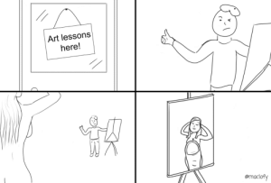 Artist, Art, and First: Art lesson:s  here!  @maclofy [OC] Not a great artist but heres my first post!