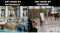 Feminism vs. patriarchy: ART MADE BY  PATRIARCHY  ART MADE BY  FEMINISM Feminism vs. patriarchy