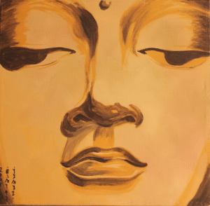 Tumblr, Blog, and Buddha: artezopaintings:  Buddha Face Original Acrylic Painting