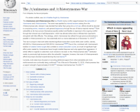 Anime, Community, and Hentai: Article Talk  Read Meme made by lu/WeegeeNumbuh1 View history Search Wikipedia  WIKIPEDIA  The /r/animemes and /r/historymemes War  From Wikipedia, the free encyclopedia  For similar conflicts, see List of battles fought by Ianimemes.  The Irlanimemes and /r/historymemes War is a Reddit meme conflict waged between the subreddits of  /rlanimemes and Ir/historymemes. This event was sparked by internal tensions arising from the  /r/historymemes side, wherein it was decided that rather than going into a civil war, efforts should be devoted  to conquering anime, weeaboos, and general degeneracy through the use of history-inspired memes. Both  subreddits so far have proven themselves equally resilient and flexible in response to this ongoing conflict  through their shrewd use of self-depreciation, which has allowed either side to infiltrate their opponent's  stronghold with little difficulty. This strategy, which /r/animemes has refined through previous skirmishes in  parallel to Ir/historymemes's own, has essentially led to a meme stalemate as of December 12, 2018.131  This war is unique in that both sides reached significant subscriber counts while under conflict, namely  400,000 for  tradition of creative meme surges that correlate to certain subscriber counts, an inrush of significant high-  effort posts created by Ir/animemes have brought notable firepower and unity against their aggressors. A  similar effect in regards to subscriber count remains to be seen on the In/historymemes side,7 attributed  mainly to previously high tensions within the subreddit. It appears, however, that most of Ir/historymemes's  efforts have been directed towards farming the most karma.[8  Currently, both sides have focused on recruiting additional support from other subreddits and more  reinforcements are continually being confirmed.19] As of the end of December 12, 2018, Ir/historymemes has Loca  a support strength of approximately 410,500110] whereas Ir/animemes has 174,000. 11  Main page  The /lanimemes and //historymemes War  Part of the Meme Conflicts of Reddit  Current events  Random article  Donate to Wikipedia  Which is more appealing  A bust of Nero Nero's bust  Interaction  elp  ia  Community portal  Recent changes  Contact page  historymemes and 300,000 for Ir/animemes.1415l6] Due to this, combined with Ir/animemes's  An example of the conflict expressed through an  Internet Meme featuring elements representing both  belligerents. (Emperor Nero featured)  December 11, 2018 Present  What links here  Related changes  Special pages  Permanent link  Date  reddit.comm  Wikidata item  rlanimemes Ir/historymemes  /rlanimemes has superior advantage in  regards to degeneracy, Ir/historymemes  has summoned significant  reinforcements (see below)  Cite this page  Contents [hide  Status  Printexport  Create a book  Download as PDF  Printable version  1 Initial conflicts  1.1 Tension within Ir/historymemes  1.2 Subreddit concensus  1.3 Declaration of war  TerritorialIrhistorymemes reached 400,000  changes subscribers on December 12, 2018  . /rlanimemes reached 300,000  subscribers on December 11, 2018  2 First wave of battle  In other projects  2.1 Beginning onslaught  Wikimedia Commons  Belli  2.2 Irlanimemes response  Irhistorymemes  ary support:  3 Concurrent achievements  /rlanimemes  ges  SU  3.1 Ir/historymemes 400k subscribers  rITHE PACK  /r/MonsterMusume  /r/OneTrueBiribiri  /riLolice  3.2 Irlanimemes 300k subscribers  /rlokbuddyretard  /riroughromanmemes  Edit links  4 Weaponry and casualties  4.1 /rlanimemes side  4.1.1 General degeneracy and hentai  4.1.2 Current meme repository  /ridankcrusadememes  /r/dankmemesfromsite19  4.2 Ir/historymemes side  u/TheDelta  /u/ShakuSwag  4.2.1 Counter-attacks and reinforcements