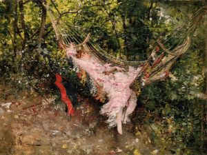 artist-boldini:  The Hammock, 1874, Giovanni BoldiniMedium: oil,panel: artist-boldini:  The Hammock, 1874, Giovanni BoldiniMedium: oil,panel