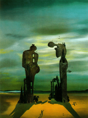 Tumblr, Blog, and Http: artist-dali:  Archeological Reminiscence Millet's Angelus, 1935, Salvador Dali