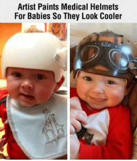 Baby, It's Cold Outside: Artist Paints Medical Helmets  For Babies So They Look Cooler