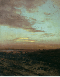 Tumblr, Birds, and Blog: artist-savrasov:  Evening Migration of birds, Aleksey Savrasov Medium: oil,canvas