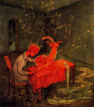Tumblr, Blog, and Http: artist-varo:  Sympathy, 1955, Remedios Varo Medium: oil,masonite