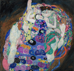 artisticinsight:  The Maiden, 1913, by Gustav Klimt (1862-1918)This work of Klimt, depicting numerous women and flowers, plays with the themes of life, womanhood, and sexuality.: artisticinsight:  The Maiden, 1913, by Gustav Klimt (1862-1918)This work of Klimt, depicting numerous women and flowers, plays with the themes of life, womanhood, and sexuality.