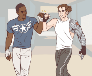 artofobsession:  Flat color commission of Sam Wilson and Bucky Barnes, for someone who wanted to be anonymous. They commissioned it to have Anthony Mackie and Seb Stan sign! : artofobsession:  Flat color commission of Sam Wilson and Bucky Barnes, for someone who wanted to be anonymous. They commissioned it to have Anthony Mackie and Seb Stan sign!