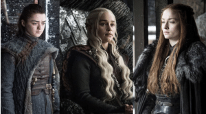 Beautiful, Women, and Powerful: Arya, Daenerys, and Sansa are fierce, beautiful, powerful women. They have their own unique strengths that helped them overcome horrific circumstances. They are all relavant to the story and should not be pitted against each other.