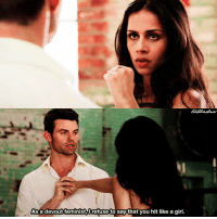 [The Originals 2x06] Feminist 😂👏🏻 ⠀ Q: Did you ship Elijah and Gia? ⠀ Sorry for not posting yesterday, but I was too busy 😅 ⠀ My edit give credit [ elijahmikaelson theoriginals|176.8k]: As a devout feminist,lrefuse to say that you hit like a girl. [The Originals 2x06] Feminist 😂👏🏻 ⠀ Q: Did you ship Elijah and Gia? ⠀ Sorry for not posting yesterday, but I was too busy 😅 ⠀ My edit give credit [ elijahmikaelson theoriginals|176.8k]