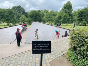 Climbing, Respect, and Stuff: As a mark of respect,  please refrain from  climbing this memorial. Hate this kind of stuff. Disrespecting memorials is one of the most trashy thing people can do, absolutely barbaric