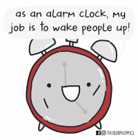 9gag, Clock, and Memes: as an alarM clock, my  job is to wake people up  FO THESQUARECOMICS Revenge is a dish best served with beep beep beep 📣 🖌️Cr: @thesquarecomics - - - comic 9gag dark