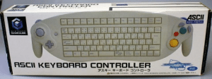 Keyboard, Yes, and Gamecube: AS  ASCII  F4  ASC-1901PO  ENTERD n  GAMECUBE  W  ae  Ce  ASCII KEYBOARD  CONTROLLER  ASY  SALINE  対応  アスキー キーボードコントローラ  TASCH KEVBOARD CONTROLLER』に対応しているかご確ください。  A本製品をお使いになる前に、  こ使用のソフトが Yes, it was a thing.