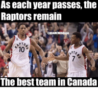 That's impressive 🔥😂 - Follow @_nbamemes._: AS each year pasSeS, the  Raptors remain  @NBAMEMESDope  10  PTO  The best team in Canada That's impressive 🔥😂 - Follow @_nbamemes._