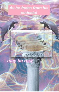 """Reddit, Rest, and Com: As he fades from his  pedestal  Open with Preview  may he rest <p>[<a href=""""https://www.reddit.com/r/surrealmemes/comments/7jcu0e/rip_in_peas/"""">Src</a>]</p>"""