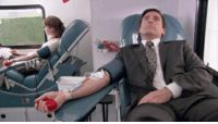 As I sit here giving blood, I feel like Michael Scott. Still single after Valentine's Day. But at least I have a good blood type. Type O-cean spray. ❤️💉😃: As I sit here giving blood, I feel like Michael Scott. Still single after Valentine's Day. But at least I have a good blood type. Type O-cean spray. ❤️💉😃