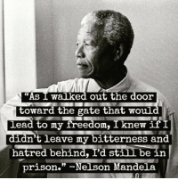 "Birthday, Memes, and Nelson Mandela: As  I walked out the door  toward the gate that would  Lead to my freedon, I knew if I  didn't leave my bitterness and  hatred behind, I'd still be in  prison."" ^Nelson Mandela 💜🙇🏿‍♀️🙇🏾‍♂️ Remembering NelsonMandela on what would have been his 100th birthday and the transcendent wisdom and forgiveness he demonstrated after his release from twenty-seven years in prison."" Repost @ariannahuff Madiba MandelaDay"