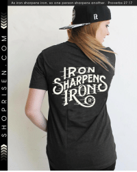 Memes, Providence, and 🤖: AS Iron Sharpens iron, SO One person sharpens another. Proverbs 27: -> @risenapparel is currently donating $5.00 of any purchase from shoprisen.com to Cure International. The donation will provide medical care and will bring the good news of God's love to those families in need of healing. View more-> @christianapparel Together we can make this world a better place! February 20th to march 1st