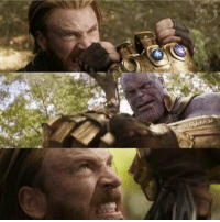 """Memes, Never, and Thanos: """"As long as one man stands against you, Thanos, you'll never be able to claim victory.""""  (Andrew Gifford)"""