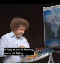 School, Wholesome, and Bob: As long as you're learning,  you're not failing. Some wholesome Bob to get through school