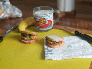 As per request, smol sandwiches. I am sorry I do not have tiny hamsters to eat them.: As per request, smol sandwiches. I am sorry I do not have tiny hamsters to eat them.